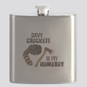 Davy Crockett is My Homeboy Flask
