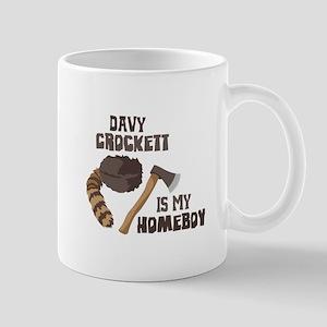 Davy Crockett is My Homeboy Mugs