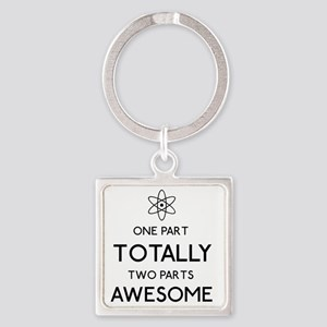 Atomic Awesome Square Keychain