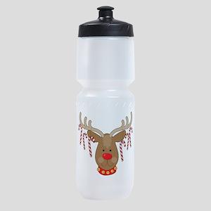 Reindeer Ornaments Sports Bottle