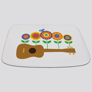Ukulele Flowers Bathmat