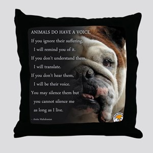VOICE OF ANIMALS Throw Pillow