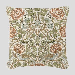 William morris Rose Woven Throw Pillow