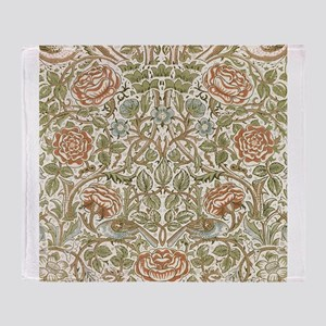 William morris Rose Throw Blanket