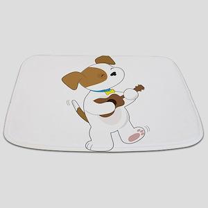 Cute Puppy Ukulele Bathmat