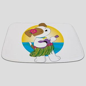 Cute Puppy Hawaii Bathmat