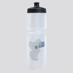 koala australian flag Sports Bottle