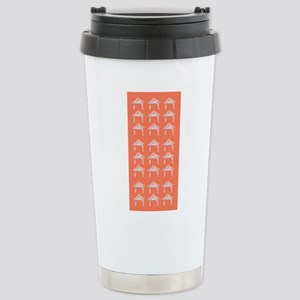 Pink Asian Zen Doors 413 Travel Mug