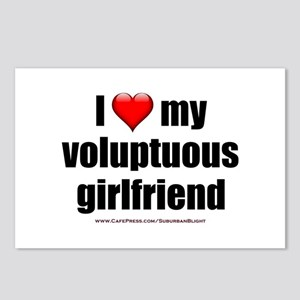 """Love My Voluptuous Girlfriend"" Postcards (Package"