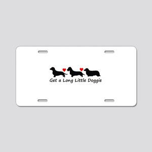 Get a Long Little Doggie Aluminum License Plat