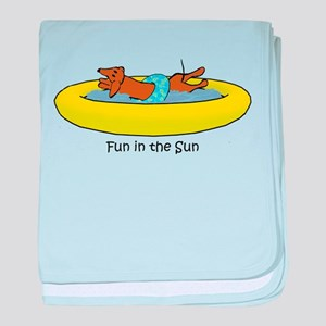 Dachshund - Fun in the Sun baby blanket