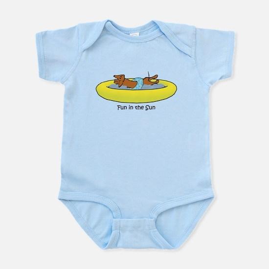 Dachshund - Fun in the Sun Infant Bodysuit