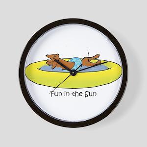 Dachshund - Fun in the Sun Wall Clock