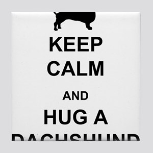 Dachshund - Keep Calm and Hug a Dachshund Tile Coa