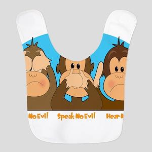 monkey see speak hear2 Bib