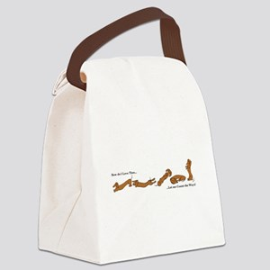 Dachshund - How do I love Thee Canvas Lunch Bag