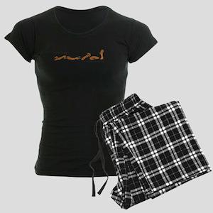 Dachshund - How do I love Thee Women's Dark Pajama