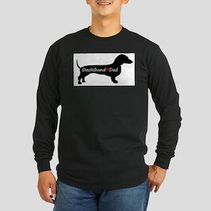 Dachshund Dad Long Sleeve Dark T-Shirt