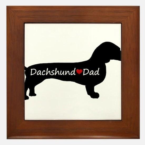 Dachshund Dad Framed Tile