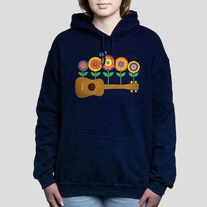 Ukulele Flowers Hooded Sweatshirt
