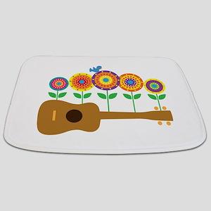 Ukulele Flowers Bathmat