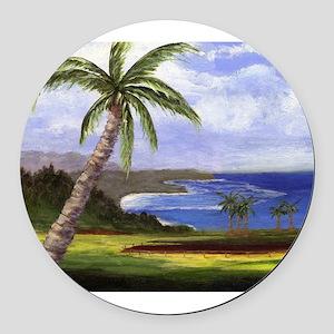 Beautiful Kauai Round Car Magnet