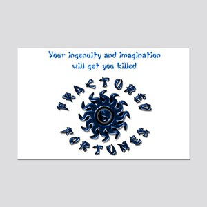 Ingenuity (Blue) Mini Poster Print