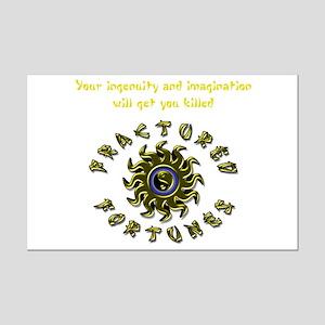 Ingenuity (Yellow) Mini Poster Print