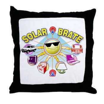 SolarBrate Throw Pillow