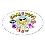 SolarBrate Oval Sticker