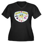 SolarBrate Women's Plus Size V-Neck Dark T-Shirt