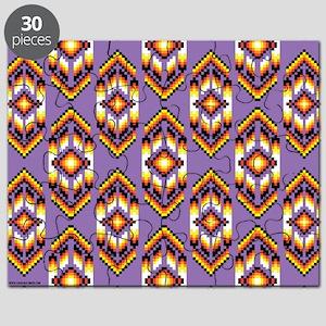 Native American Design Purple Puzzle