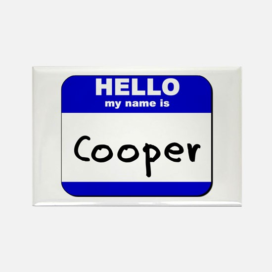 hello my name is cooper Rectangle Magnet