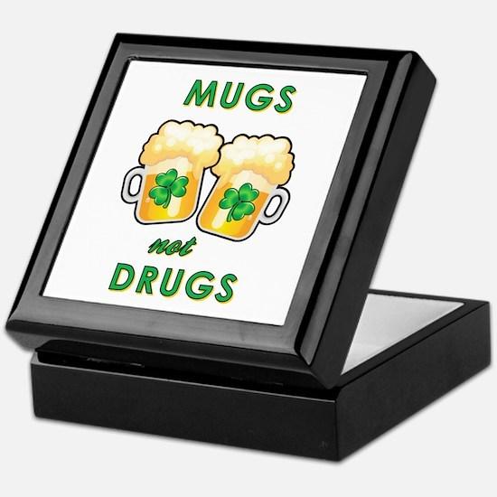 MUGS NOT DRUGS Keepsake Box