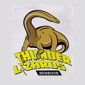 Thunder Lizards Throw Blanket