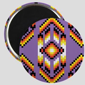 Native American Design Purple Magnets