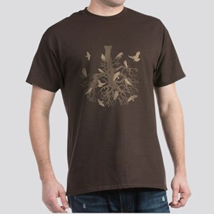 Tree with Ravens Brown Dark T-Shirt