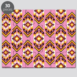 Native American Design Pink Puzzle