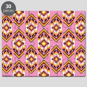 Native American Design Pink Puzzle