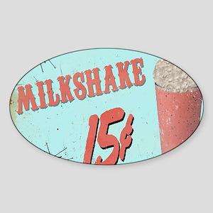 5OS Milkshake Sticker (Oval)