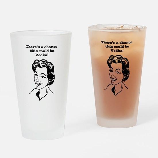 Wink, wink! Drinking Glass