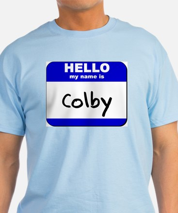 hello my name is colby T-Shirt