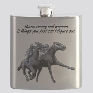 horse racing 2 women Flask
