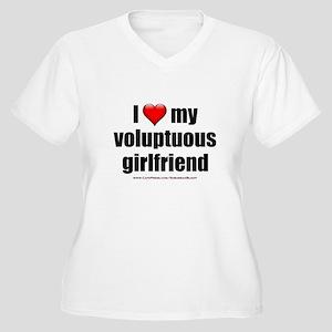 """Love My Voluptuous Girlfriend"" Women's Plus Size"