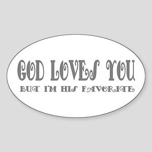 Favorite Humor Oval Sticker