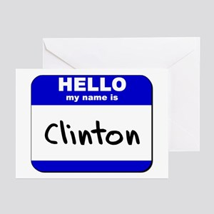 hello my name is clinton  Greeting Cards (Package
