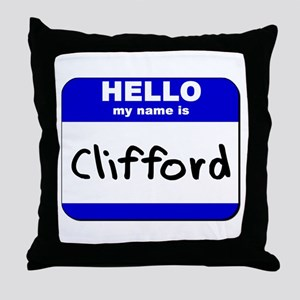 hello my name is clifford  Throw Pillow