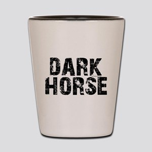 dark horse racing Shot Glass
