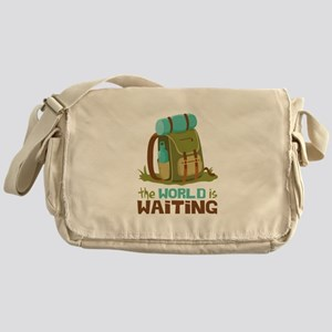 The World is Waiting Messenger Bag