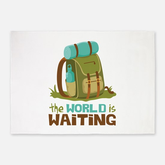 The World is Waiting 5'x7'Area Rug
